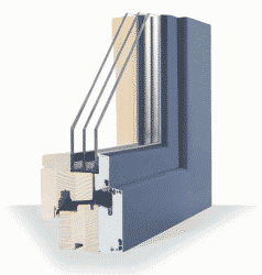 Composite or Hybrid Windows offer the advantages of aluminium externally and beautiful wood internally