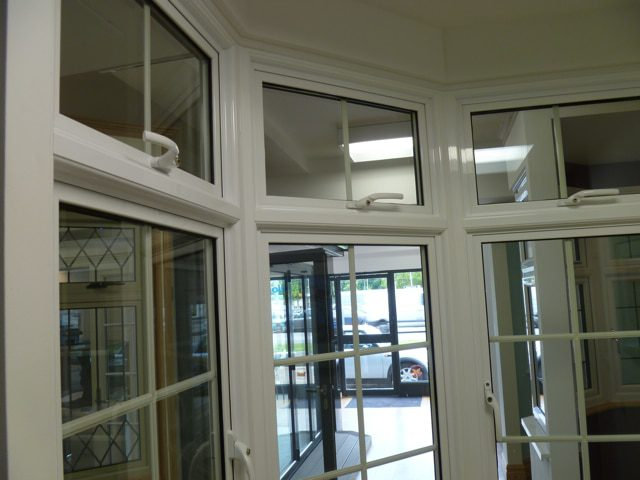 the new sapa crown window is aesthetically similar to monaframe but also comes with some beautiful enhancements such as this profiled transom