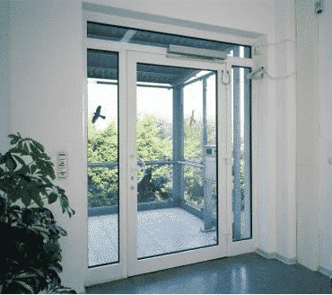 Existing commercial aluminium doors can easily be converted to automatic operation