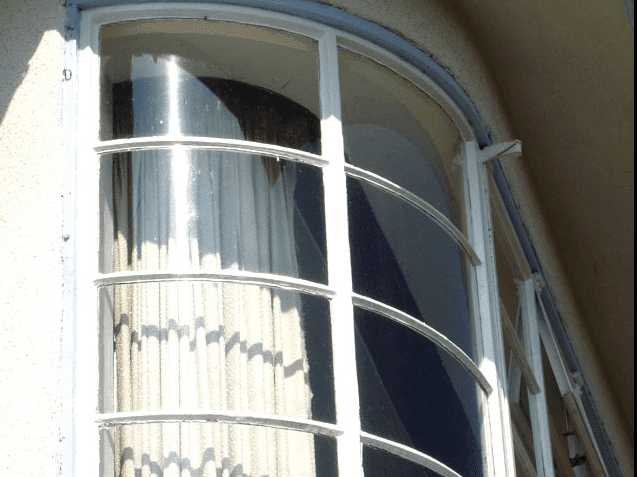 Curved steel crittall window