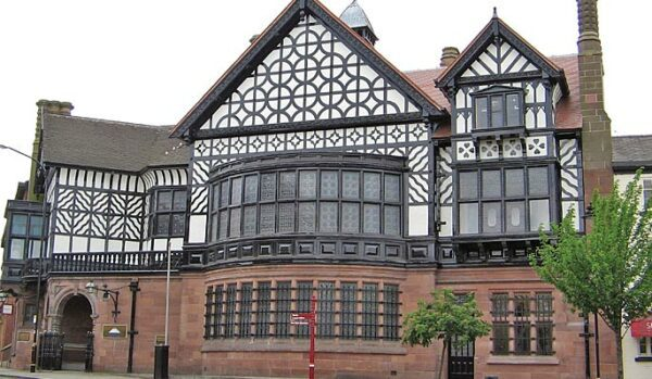 A stunning mock tudor building where only original steel or aluminium steel window replacements would do.