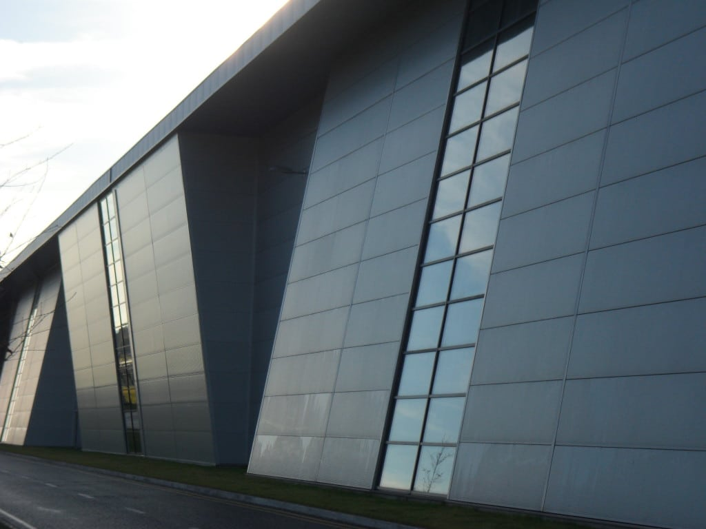 Aluminium panels or cladding are often coloured with a PVDF finish for its durability.