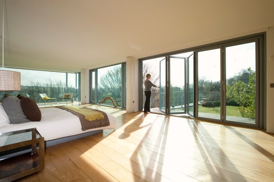 very large room showing options for bi folding or sliding doors