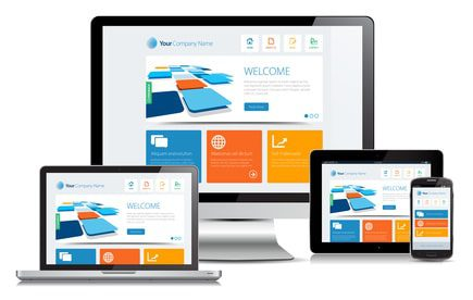 image of websites on devices