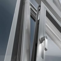 shuco window close up of aluminium finish
