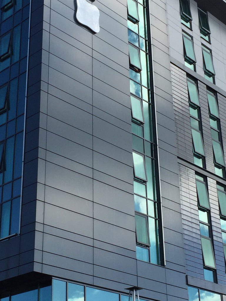 commercial buildings designed by architects now feature many glazed elements such as windows, doors and curtain walling