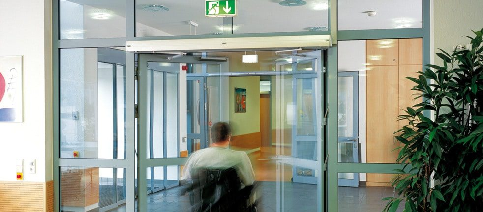 Automatic doors can provide an ideal solution to doors that can cause problems for the disabled.