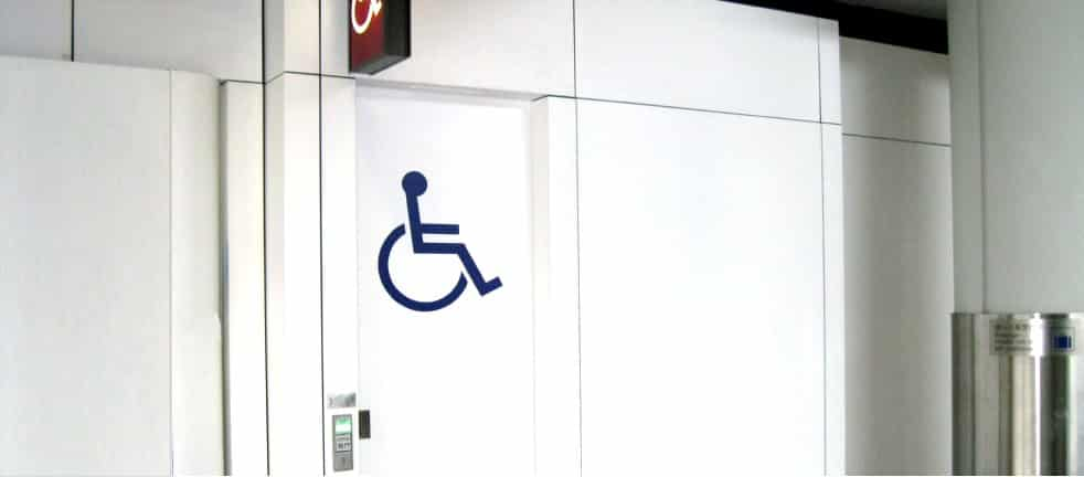a disabled person covered by the equality act is not just  someone in a wheelchair