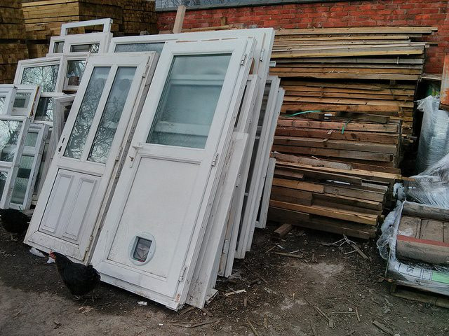 old upvc doors were criticised for their thick appearance and the risk of plastic panels being easily kicked in.