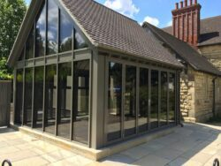 AluK bifolding doors are ideal for the home or commercial premises and couple to windows and screens.
