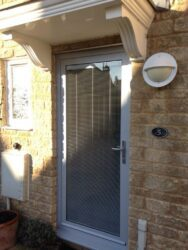 colour matched integral blind in a door