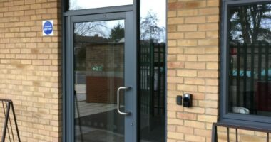 Aluminium doors for schools.
