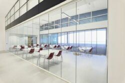 Sophisticated manufacturing and unique profiles and components make up a glass bifolding door.
