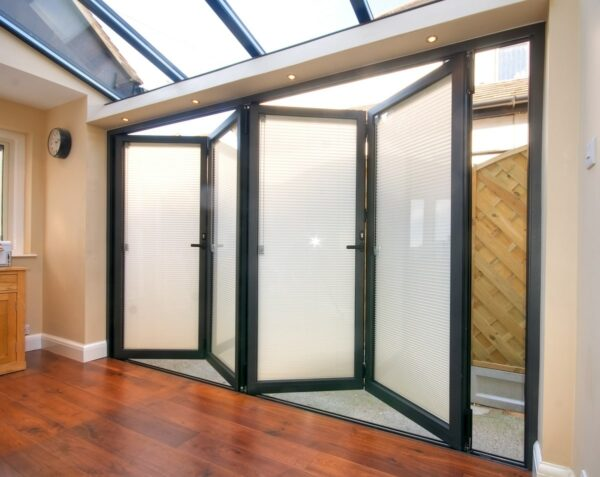 bifolding doors such as these premium schuco aluminium bifolds fitted with morley glass integral blinds presently do not fall under the window energy rating requirements.