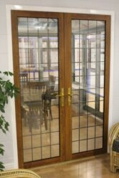 many doors fitted internally  such as these to a conservatory are the same as external doors.