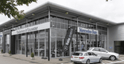 car showrooms can now benefit from bifolding doors as well as sliding doors.