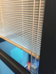 integral blind with cord control.