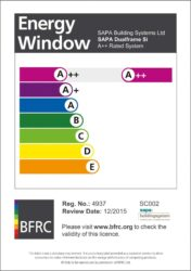 the first batch of a++ window energy ratings launched on 1st october 2015