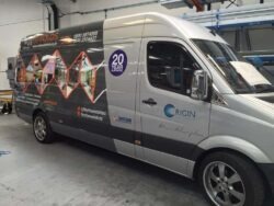 Origin is a great example of a company helping their dealers though van signage, and excellent point of sale materials.