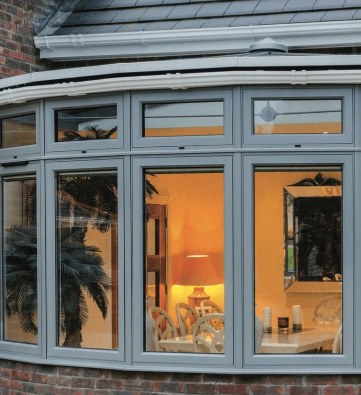 casements, bay windows, bow windows, large screens and oversized opening sashes are available.