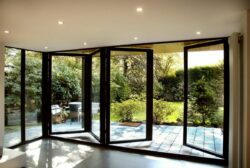 the aluprof folding door has a strong european design but the company provides little information to appeal to homeowners.