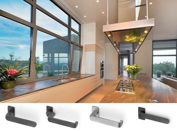 the reynaers purity handles bring a contemporary sleek handles to their excellent range of aluminium windows and doors.