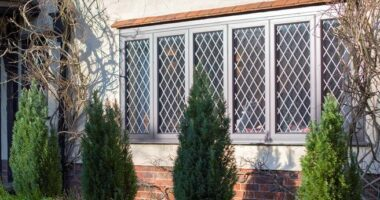 Origin leaded aluminium windows.