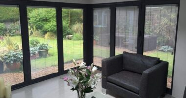Integral blinds for sliding patio doors