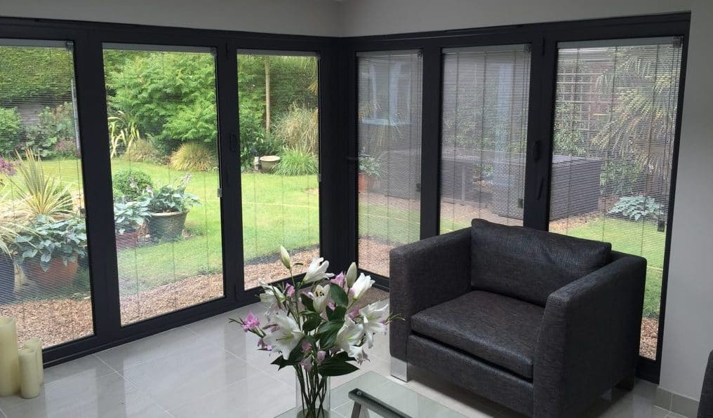 motorised integral blinds.