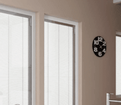 Morley glass magnet controlled blinds.