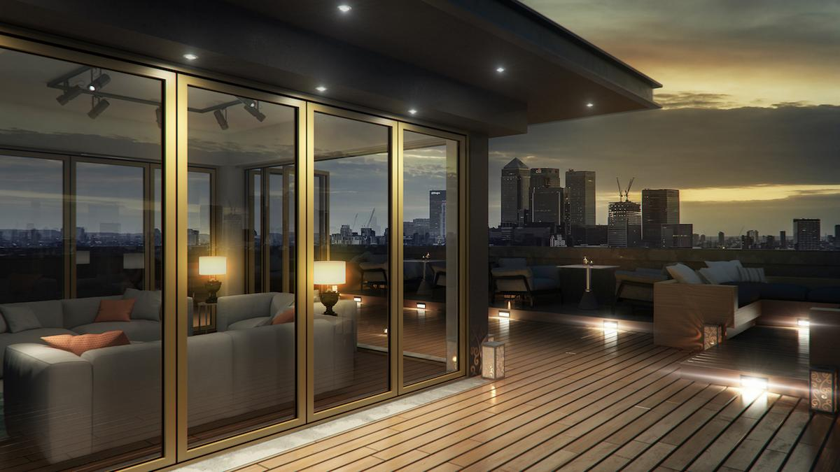 Bifolding doors for apartments.