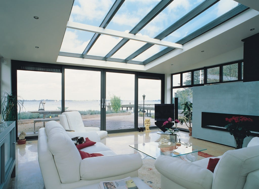air 600LS contemporary sliding doors in new build home.