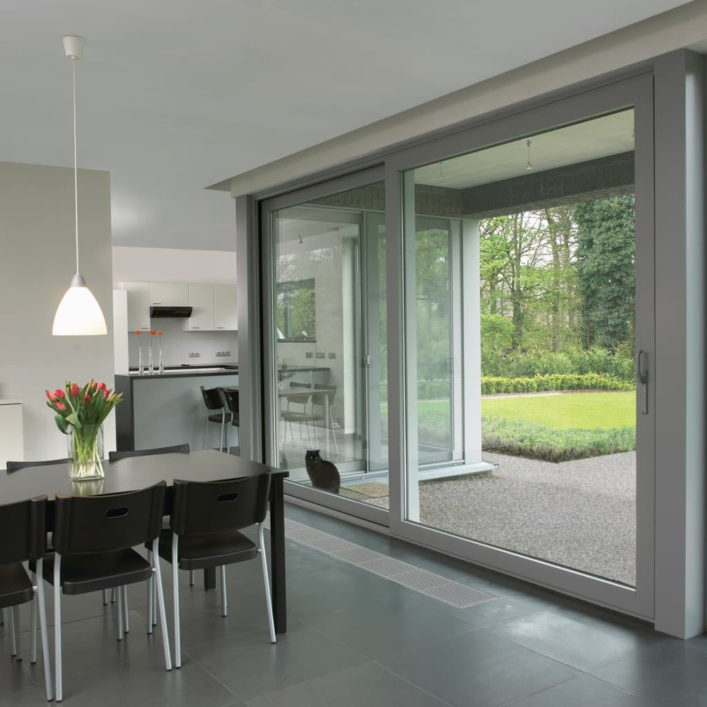 Air lift and slide patio doors