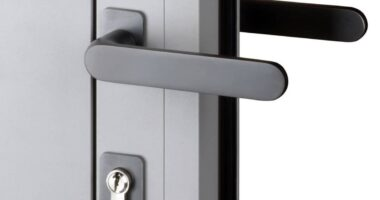 purity door handles on air bifolding door