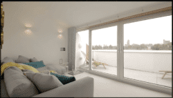 Kawneer Sliding patio doors in residential property