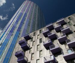 building with kawneer architectural aluminium and bes 6001 certification