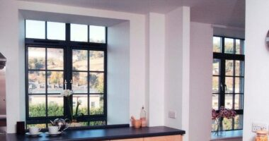 Kawneer powder coated aluminium window