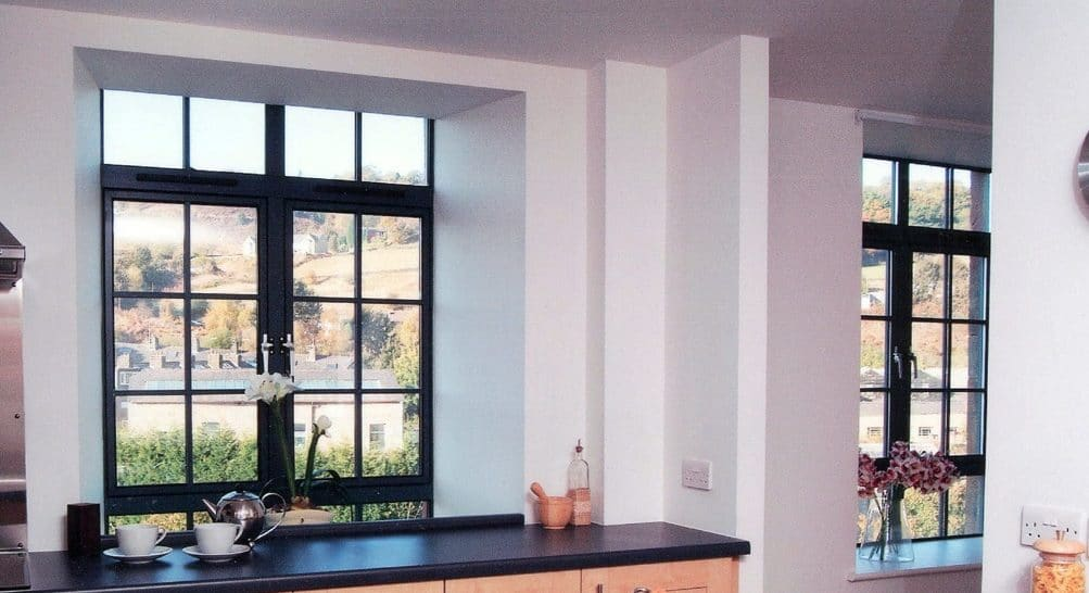 Kawneer powder coated aluminium windows
