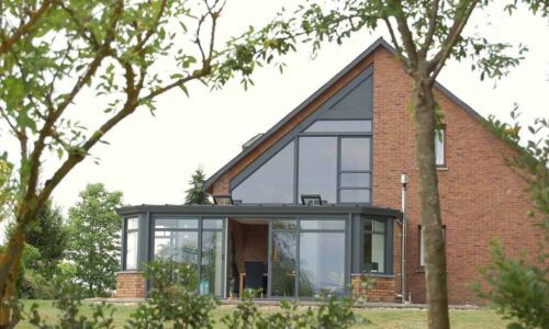 Smarts curtain walling and windows in grey