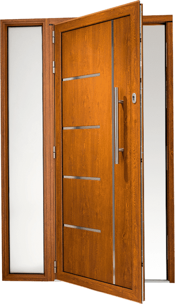 Origin aluminium front door