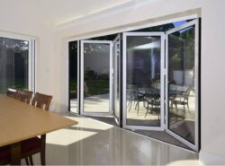 Comar folding door in a house