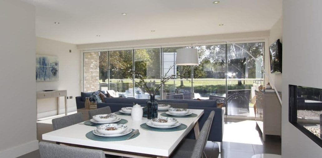 Frameless bifolding doors by FGC