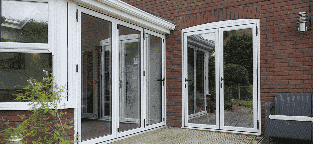 French doors in Aluminium.