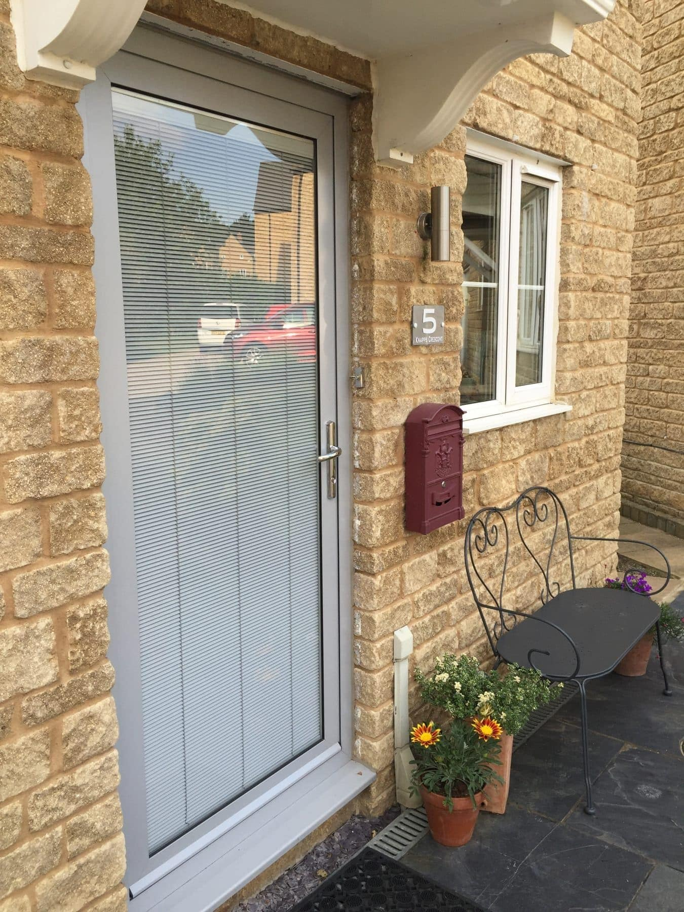 a front door is where you can use integral blinds.