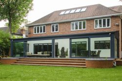 air bifolding and sliding doors in london home.