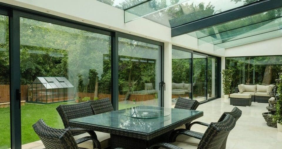 aluminium sliding patio doors in a new london home