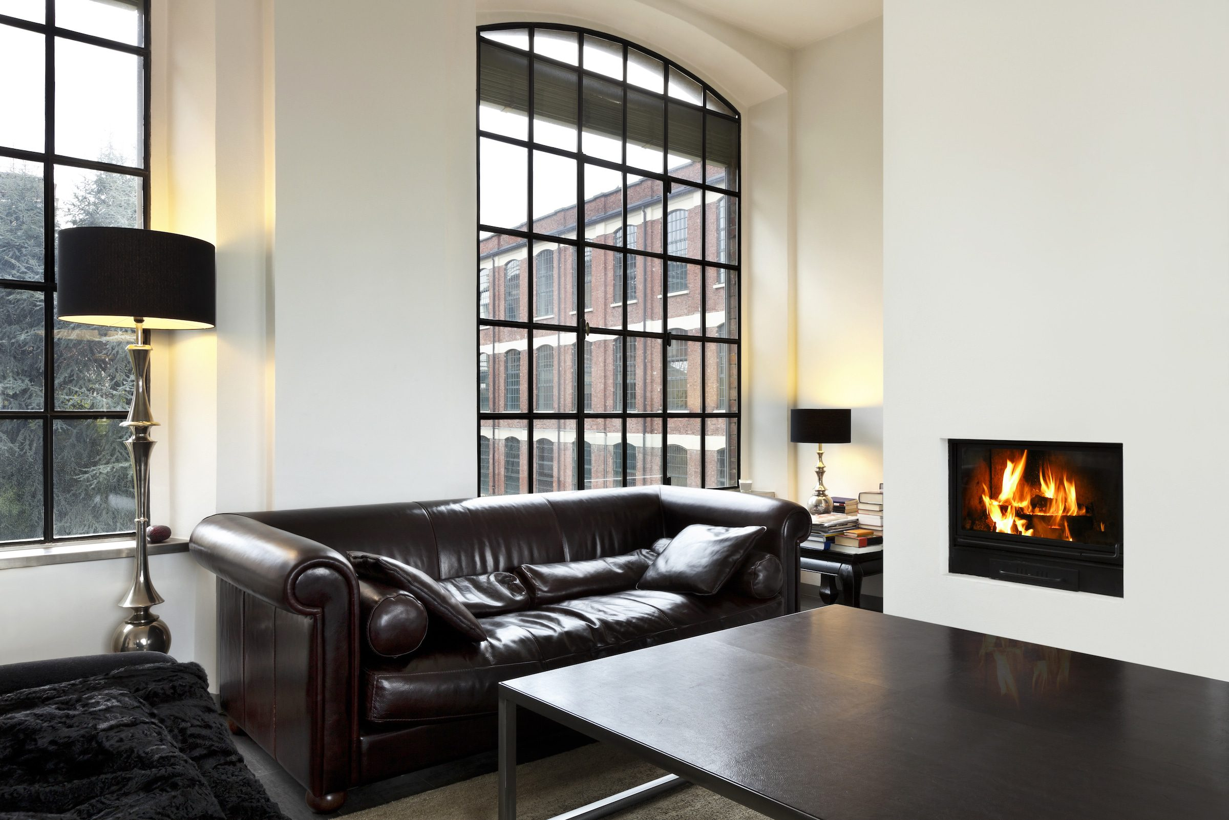 crittall style windows in a loft apartment