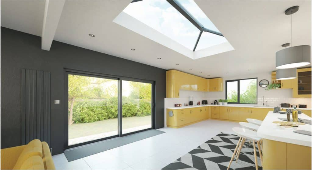 choosing a roof lantern with a stratus roof in a new lounge