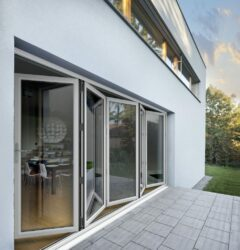 cream bifold door from Stellar aluminium systems