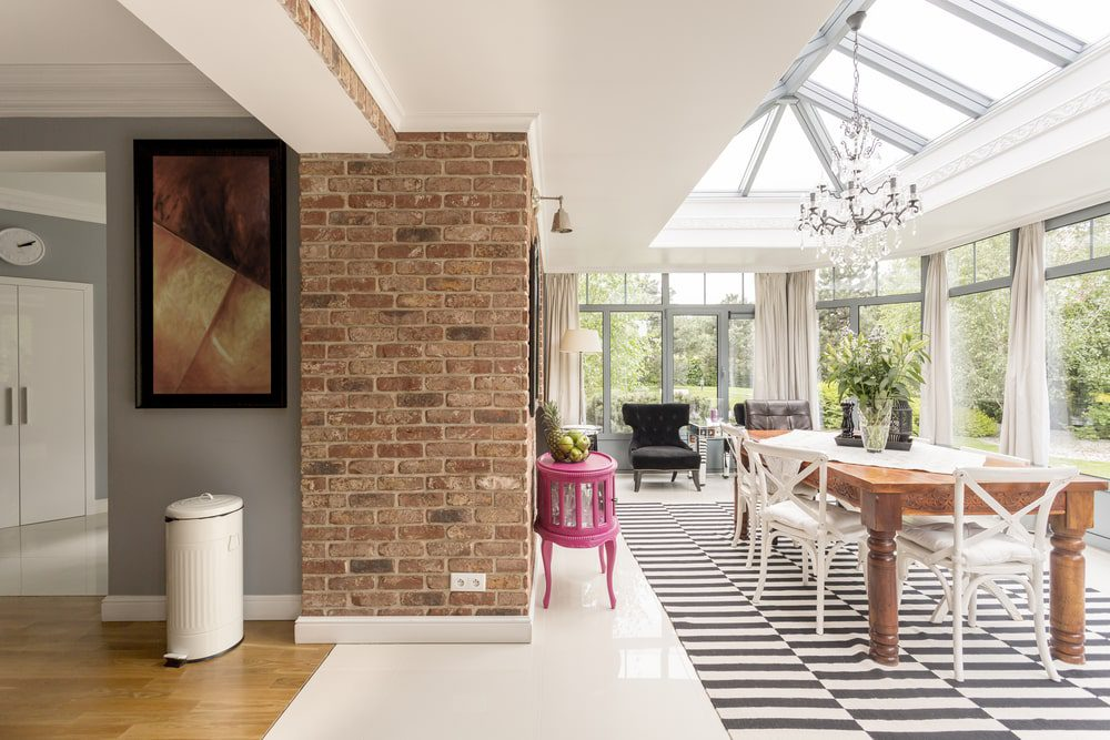 best roof lanterns showing large contemporary roof in an orangery